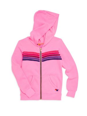 Little Girls  Girls Stripe Hoodie
