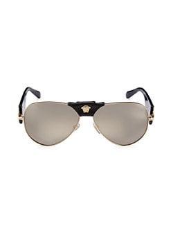 044dde23b49 Product image. QUICK VIEW. Versace. 62mm Pilot Sunglasses