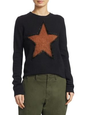 No. 21 - Star Virgin Wool Sweater - Womens - Black Multi