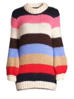 GANNI Julliard Mohair Wool Sweater