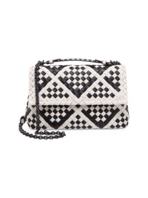 Small Olimpia Leather Shoulder Bag - White, Multi