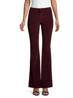 Mercer Curated Corduroy Flared Pants, Vino