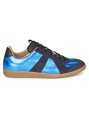 c4f3cfe3c4424 Maison Margiela - Mixed Media Low-Top Sneakers - saks.com