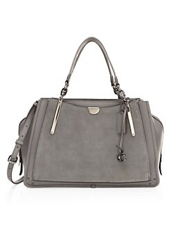 11fe9d23fce Dreamer Mixed Leather Top Handle Bag GREY. QUICK VIEW. Product image