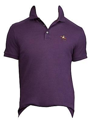 cd8eb2fb Ralph Lauren Purple Label - Cotton Pique Standing Horse Polo - saks.com