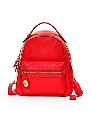 ca9ad56799ce COACH - Campus Polished Pebbled Leather Backpack - saks.com