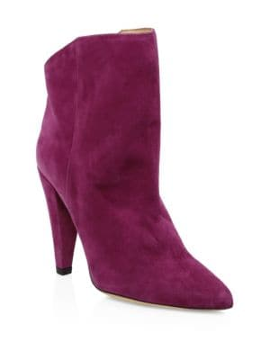 Amy Suede Booties in Purple from IRO