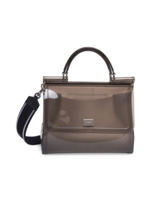 Dolce And Gabbana Grey Small Rubber Miss Sicily Bag