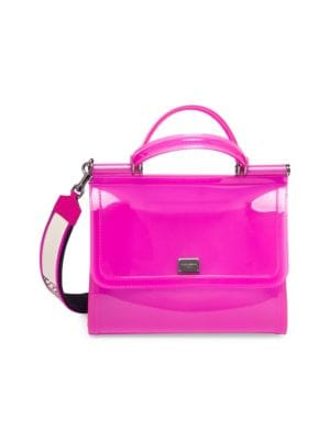 DOLCE & GABBANA Dolce And Gabbana Pink Small Rubber Miss Sicily Bag