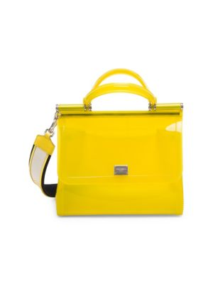 Dolce And Gabbana Yellow Small Rubber Miss Sicily Bag
