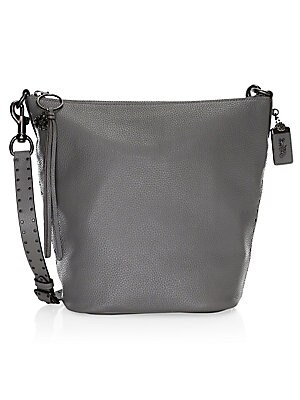 e4133089a9817 COACH - Border Rivets Leather Shoulder Bag - saks.com