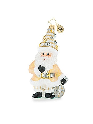 "Image of From the Euroglass Collection. Cheery Handcrafted glass Santa ornament with extra sparkle. Glass Made in Poland SPECIFICATIONS Height, about 5.75"". Gourmet Food & - Trim A Home. Christopher Radko."