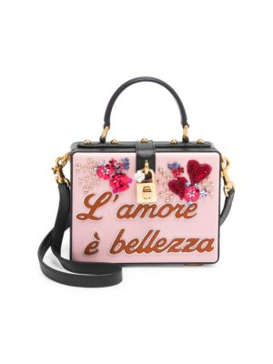 23dd287f6b Dolce   Gabbana Dolce Box Embellished Textured-Leather Clutch In Pink
