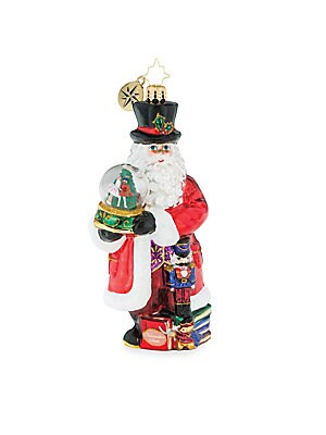 "Image of From the Euroglass Collection. Beautifully handcrafted glass Santa ornament with extra sparkle. Glass Made in Poland SPECIFICATIONS Height, about 6"". Gourmet Food & - Trim A Home. Christopher Radko."
