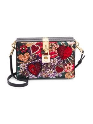 Dolce Amp Gabbana Dolce Embellished Leather Box Clutch
