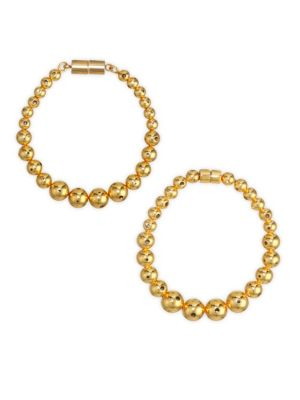 PAULA MENDOZA Fractals Magdalena Hoop Earrings in Yellow Gold