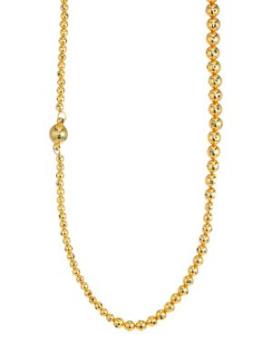 PAULA MENDOZA Fractals Magdalena Double Necklace in Yellow Gold