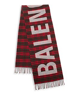 f46a09d2d37 Tartan Logo Wool Scarf RED BLACK. QUICK VIEW. Product image