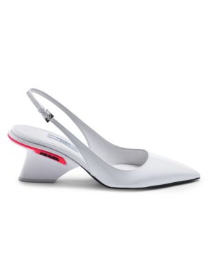 Patent Leather Slingback Pumps by Prada