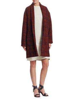 f4569bf4bf9fca Shoptagr   Eabrie Wool Blend Plaid Jacket by Isabel Marant Etoile