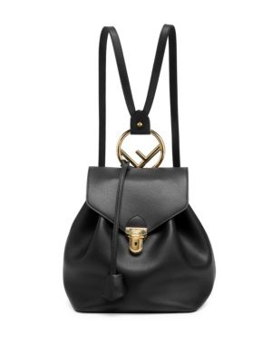 FENDI Cruise Calfskin Leather Backpack - Black