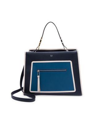 Runaway Leather Shoulder Bag, Blue