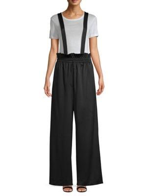 Astor Suspender Pants, Black