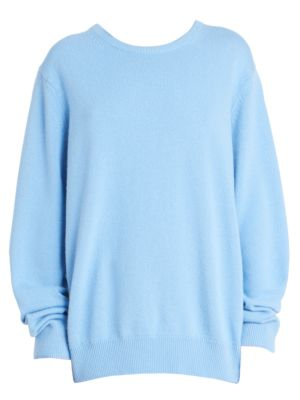 Drop-Shoulder Sweater, Sky