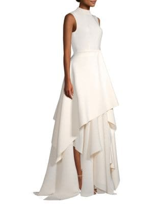 Serafine Sleeveless Tiered Gown by Solace London