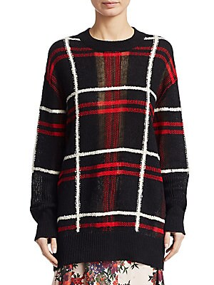 c4ac5507751 McQ Alexander McQueen - Linen-Blend Plaid Knit Sweater