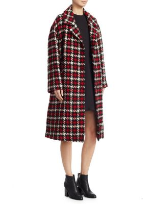 Mcq Alexander Mcqueen Checked Pattern Coat - Black, Small Check