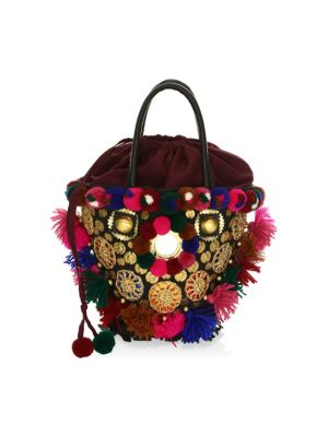 Frida Mini Tuk Tuk Embellished Top Handle Bag by Figue