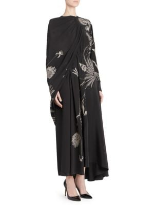 Embellished Cape Dress by Dries Van Noten