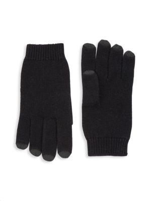 Collection Leather Tech Cashmere Gloves by Saks Fifth Avenue
