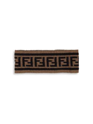 Double F Logo Knit Headband by Fendi