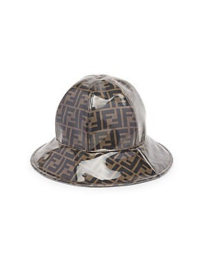 db320c50bd7 Fendi - Double-F Cloche Hat - saks.com