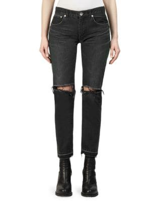 Ripped Denim Jeans by Sacai