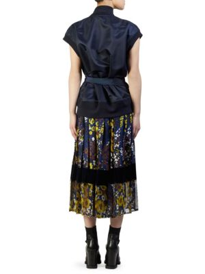 SACAI Dresses Floral Print Bomber Dress