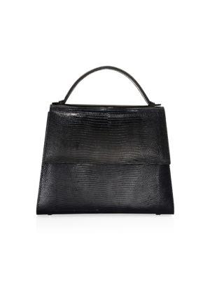 Hunting Season Lizard Leather Top Handle Bag