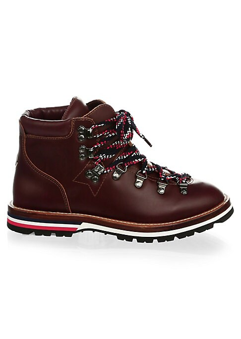 Image of Eclectic multicolor laces accentuate sleek leather texture of boots. Leather upper. Round toe. Lace-up vamp. Leather lining and sole. Made in Italy.