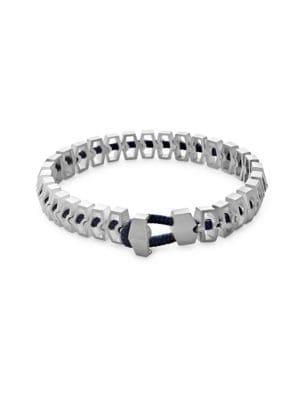 Harbour Sterling Silver Bracelet, Solid Navy