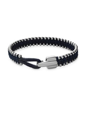 Turner Sterling Silver Rope Bracelet, Solid Navy