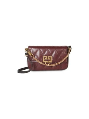 Givenchy Leathers Mini Quilted GV3 Convertible Shoulder Bag