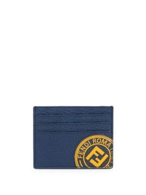 Stamp Leather Card Case by Fendi