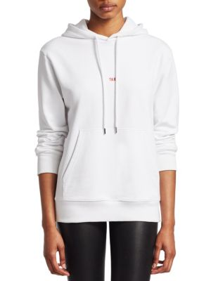 Taxi Graphic Cotton Pullover Hoodie, White