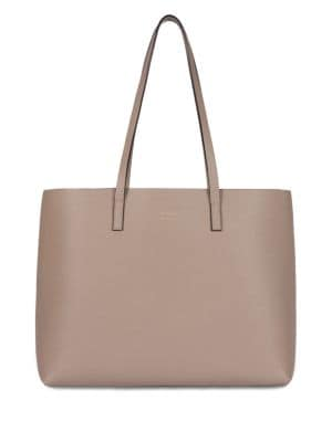 OAD Carryall Leather Tote in Taupe