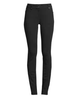 Tencel Ponte Skinny Jeans in Black