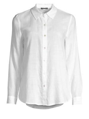 Eileen Fisher Downs Collared Button-Down Shirt