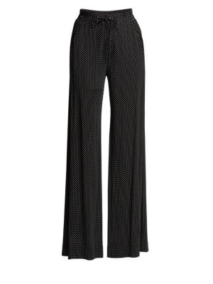 Pure Dot Jersey Pull-On Pants, Black White