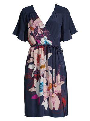 Found In Translation Lucy Wrap Dress in Multi